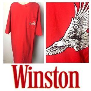Men's XL Vintage Winston Promo Eagle Tee Shirt